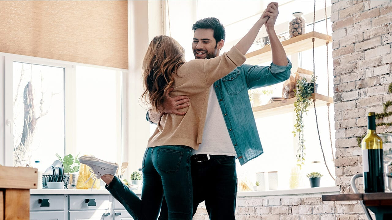 Young Couple Dancing - Slider